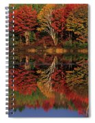 Fall Color Reflected In Thornton Lake Michigan Spiral Notebook