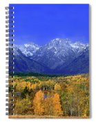 Fall Colored Aspens Grand Tetons Np Spiral Notebook
