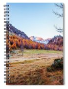Fall Colors At Alpe Devero Spiral Notebook