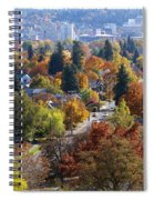 Fall Colors In Spokane From The Post Street Hill Spiral Notebook