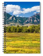 Fall Colors Of Boulder Colorado Spiral Notebook