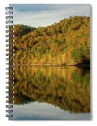 Fall Colors On Lake Reflection Spiral Notebook