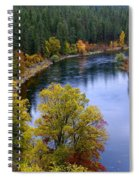 Fall Colors On The River Spiral Notebook