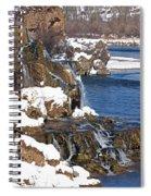 Fall Creek Falls In Winter Spiral Notebook