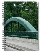 Fall Creek Gorge Bridge Cornell University Ithaca New York Spiral Notebook