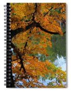 Fall Day At The Lake Spiral Notebook