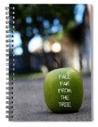 Fall Far From The Tree- Art By Linda Woods Spiral Notebook