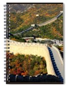 Fall Foliage At The Great Wall Spiral Notebook