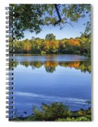 Fall Foliage At Turners Pond In Milton Massachusetts Spiral Notebook