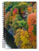 Fall Foliage In Hudson River 1 Spiral Notebook