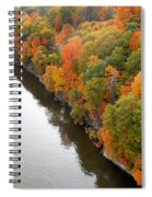 Fall Foliage In Hudson River 10 Spiral Notebook