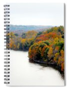 Fall Foliage In Hudson River 13 Spiral Notebook