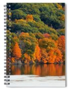 Fall Foliage In Hudson River 14 Spiral Notebook