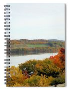 Fall Foliage In Hudson River 5 Spiral Notebook