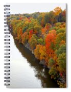 Fall Foliage In Hudson River 6 Spiral Notebook