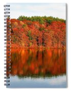 Fall Foliage Reflection Kennebec River Hallowell Spiral Notebook