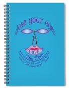 Fall In Love, Rumi Spiral Notebook