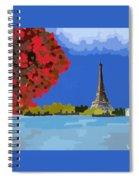 Fall In Paris Spiral Notebook