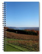 Fall In The Vineyards Spiral Notebook