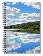 Fall Kayaking Reflection Landscape Spiral Notebook