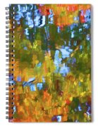Fall Leaves On River 12 Spiral Notebook
