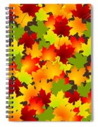 Fall Leaves Quilt Spiral Notebook