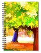 Fall Leaves Trees 1 Spiral Notebook