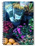 Fall Market Scene In Watercolor Spiral Notebook