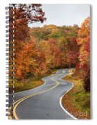Fall Mountain Road Spiral Notebook