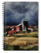 Fall Night At The Farm Spiral Notebook