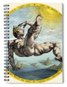 Fall Of Icarus, Greek Mythology Spiral Notebook