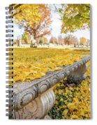Fall Park Bench Spiral Notebook