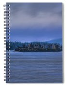 Fall Rainstorm Over Lake Wausau Spiral Notebook