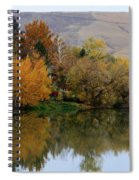 Fall Reflection Below The Hills In Prosser Spiral Notebook
