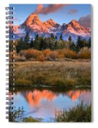 Fall Teton Tip Reflections Spiral Notebook