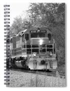 Fall Train In Black And White Spiral Notebook