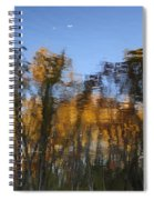 Fall Trees Reflected Spiral Notebook