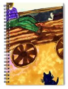 Fall Wagon Ride Spiral Notebook