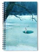 Fallen Through The Ice Spiral Notebook