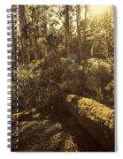 Fallen Tree In Foliage Spiral Notebook