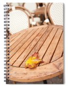 Fallen Yellow Autumn Leaf Spiral Notebook