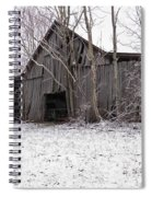 Falling Barn Spiral Notebook