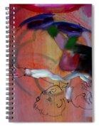 Falling Boy Spiral Notebook