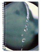 Falling Droplets   Spiral Notebook