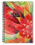 Falling Flower Spiral Notebook