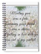 Falling In Love 3 Spiral Notebook