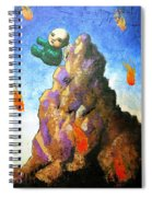 Falling Off The Mountain Spiral Notebook