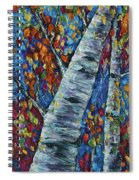 Falll In Rockies - Left Panel Spiral Notebook