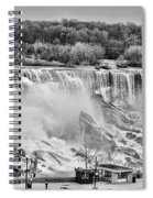 Falls Black And White Spiral Notebook