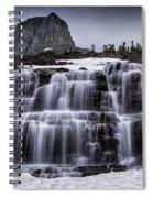 Falls In Glacier 1 Spiral Notebook